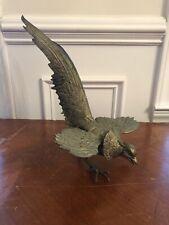 VINTAGE PHEASANT BIRD BRASS SCULPTURE FOLK ART very unusual
