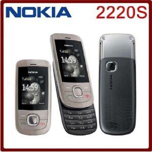 2220S Original Nokia 2220 Slide Cellphone Mini-SIM Unlocked Mobile Phone 1.8in