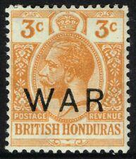 SG 120 BRITISH HONDURAS 1918 WAR STAMP - 3c ORANGE - MOUNTED MINT