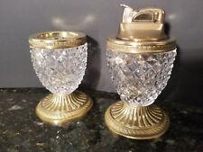 Vintage French Crystal Lighter Urn Set Gilt Bronze Ormolu Baccarat?