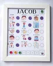 Childrens reward Chart, behaviour chart and routine, PECS, imagery, pictures