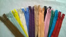 """100 Pcs Nylon Coil Zippers #3 (3mm) Altration Tailor Sew Sewing Craft  6"""" length"""