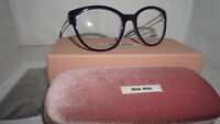 MIU MIU RX Eyeglasses New Lilac Purple Pale Gold MU 03PV USN1O1 54 19 145