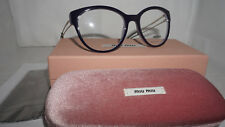 32fcf5d0dd0 MIU MIU Collection Mu03pv Lilac Violet Cat Eye Eyeglasses RX Frame 54mm 03p