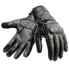 Leather Motorbike Gloves Motorcycle Gloves Touch Screen Knuckle Shell Protection