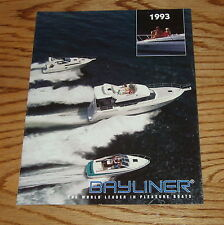 Original 1993 Bayliner Full Line Sales Brochure 93 Capri Ciera Cobra Trophy