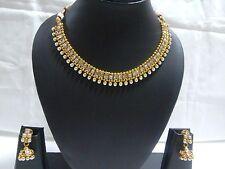 bollywood ethnic gold traditional set indian fashion jewelry polki Necklace set