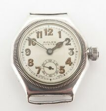 .Vintage Rolex Octagonal Oyster Sterling Silver Mens Wrist Watch c1920s Ref 6618