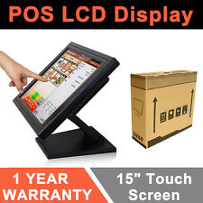 "15"" Touchscreen Monitor LCD Touch Screen Monitor w/ POS stand USB Retail Monitor"