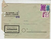 German 1952 Detmold Cancel Obligatory Tax Aid for Berlin Stamps Cover Ref 26802