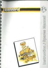 Benford Cement Mixer CT LS & RG Operators Manual with Parts List