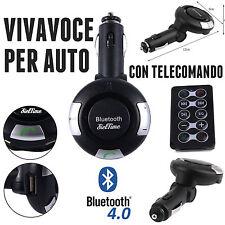KIT VIVAVOCE BLUETOOTH V4.0 PER AUTO ACCENDISIGARI MICROSOFT HUAWEI P9 P10 HTC