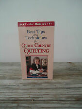 Tips & Techniques for Quick Country Quilting 1994 Debbie Mumm's VHS Tape