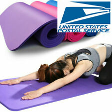 """Extra Thick 10mm Exercise Yoga Pilates Mat Gym Fitness NBR 72""""x 24"""""""