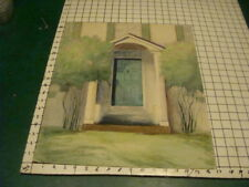 original Painting; watercolor of FRONT DOOR of House, nice, something on back to