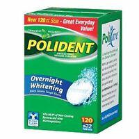 Polident Overnight Whitening Antibacterial Denture Cleanser TripleMint 120ea 2pk
