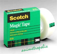"3M Scotch 1Roll #810 Magic Transparent Tape  - 3/4"" X 36 Yds 19mm x 32.9mm New"
