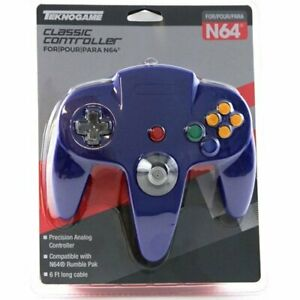 BLUE Controller Compatible with Nintendo 64