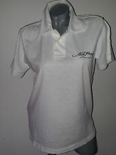 T-Shirt Shirt Poloshirt weiß kurzarm Gr. S mit Muster Ed    .     D/S