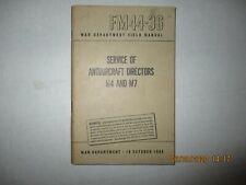 FM 44-36 MANUAL  ( 16 OCTOBER 1944)