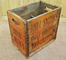 More details for john smith's tadcaster original vintage bottle crate with 6 sections.