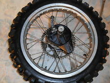 "1980 80 HONDA XL 250 18"" REAR WHEEL + BRAKE PLATE + AXLE BOLT XL250 T1001"