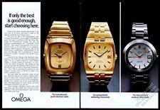 1973 Omega Seamaster electronic chronometer Constellation watch photo print ad