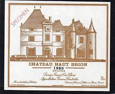 GRAVES 1ER GCC VIEILLE ETIQUETTE CHATEAU HAUT BRION 1980 75 CL RARE   §08/01/17§