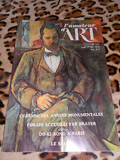 JOURNAL DE L'AMATEUR D'ART n° 625, 01/05/1978 - Forain, Mathieu, Cézanne,...