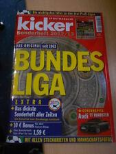 Kicker Bundesliga Sonderheft 2012--2013 mit Stecktabelle