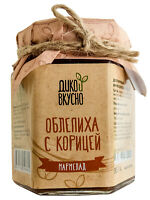 Confiture Sea buckthorn with cinnamon (wild berry content 60%) 200g Gift