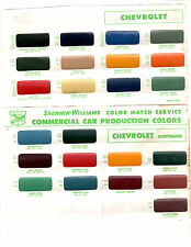 1936 1937 1938 1939 1940 TO 1950 1951 1952 1953 CHEVROLET TRUCKS PAINT CHIPS SW