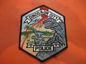 Collectible Colorado Police Patch,Dinosaur City,New