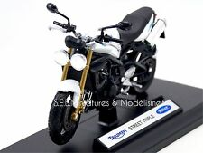 MOTO TRIUMPH STREET TRIPLE blanche 2007 1/18 Welly