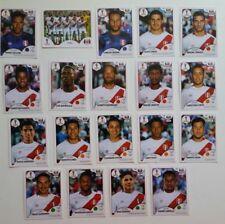 Panini FIFA World Cup Russia 2018 Stickers Lot of 19 PERU Team Stickers NO Logo