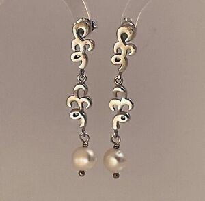 925 Sterling Silver Pearl Earrings