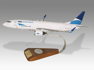 Boeing 737-800 ASL Airlines Solid Kiln Dry Mahogany Wood Handmade Desktop Model