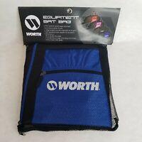 Worth Blue-Black Equipment Bat Bag Baseball Softball Holds 2 Bats Unisex NWT