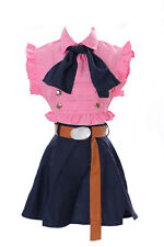 MN-24 Elizabeth The Seven Deadly Sins Fucsia Cameriera Set Anime Manga Cosplay