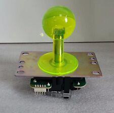 Japan Sanwa Clear Yellow Joystick & Dust Tube Set Video Arcade Parts JLF-TP-8YT