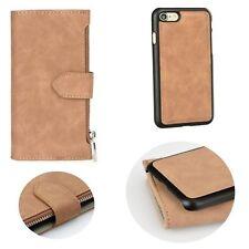 ^ BRAUN COMMODORE Portmonee 2 in 1 Form Book Case Cover Apple iPhone 8 Plus