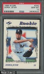 1996 Score #240 Derek Jeter New York Yankees HOF PSA 10 GEM MINT