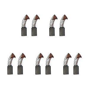 5 Sets of - 2x Carbon Brushes - Makita Cb105 Hammer-Drill (6 X 10 X 17/15)