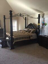 Home Styles Santiago King 4 Piece Bedroom Set Wood Sets in Cognac