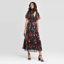 Women's Floral Print Short Sleeve Maxi Dress - A New Day