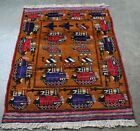 HAND MADE AFGHAN WAR RUG SHOWING TANKS , HELICOPTERS, WEAPONS SOVIET UNION WAR