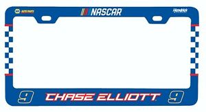 NASCAR Driver License Plate Frame-Chase Elliott #9 Tag Plate Frame