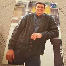 Phildar Vintage Knitting pattern (8667) Mens Cardigan DK - NEW