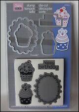 Sizzix Hero Arts Stamp and Die Cupcake Birthday set unused