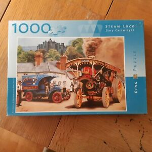 TRACTION ENGINE: STEAM LOCO:  1000 PIECE JIGSAW GUARANTEED COMPLETE